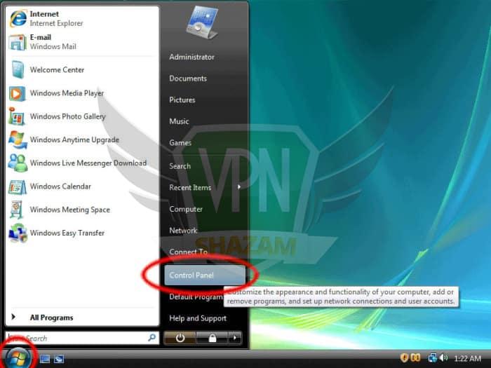Windows Vista Setup step1