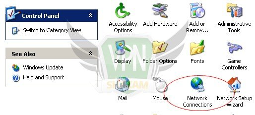 WindowsXP VPN Setup step1