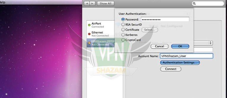 Mac OS Setup PPTP step10