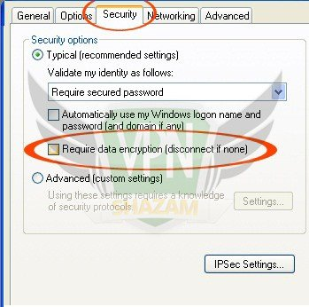 WindowsXP VPN Setup step11