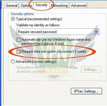 WindowsXP VPN Setup step11
