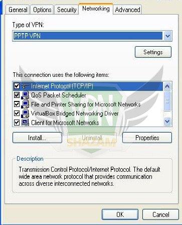WindowsXP VPN Setup step12