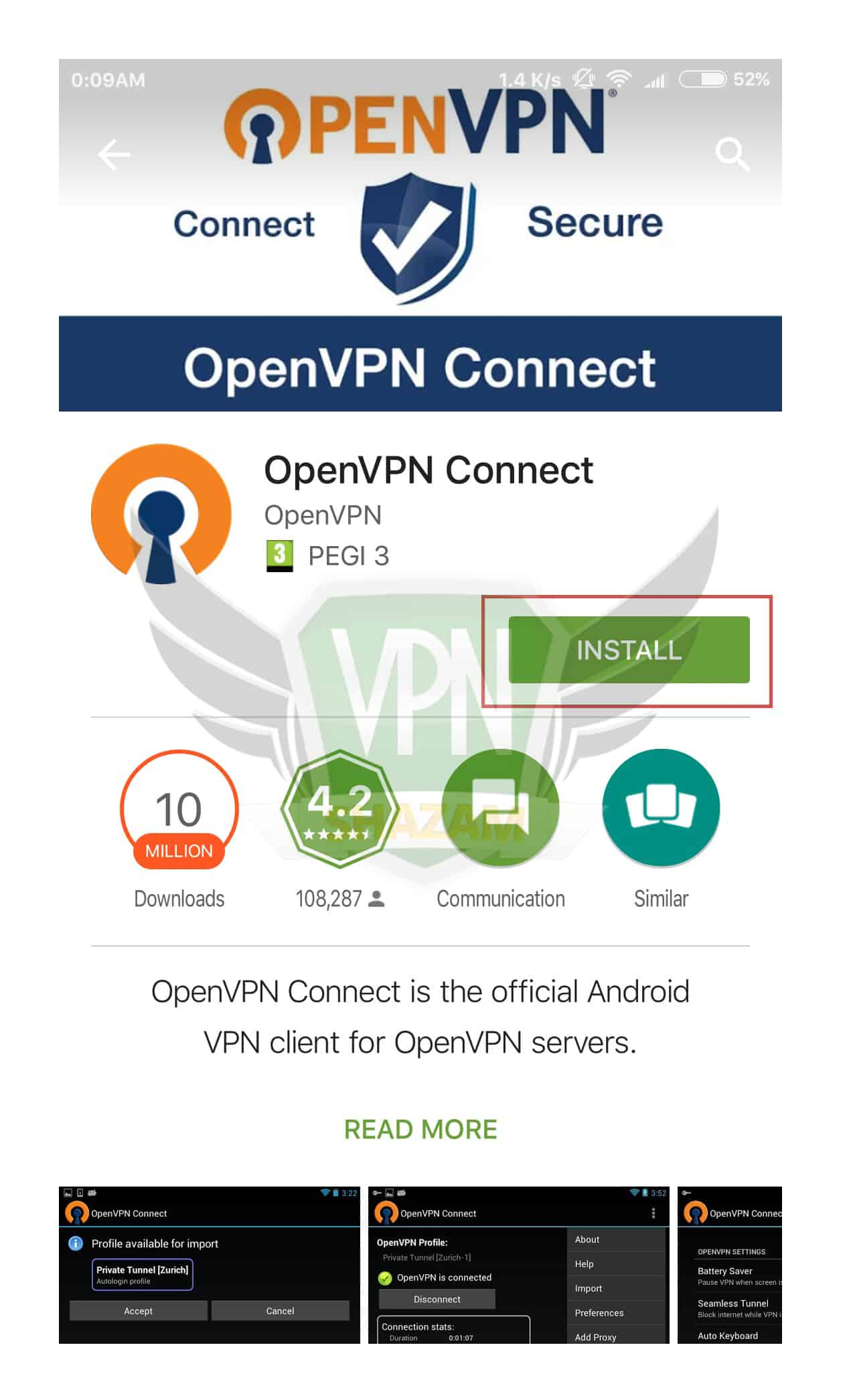 OpenVPN on the Android step2