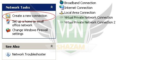 WindowsXP VPN Setup step2.1