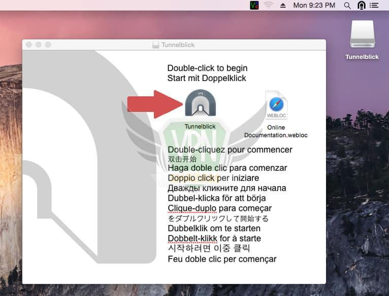 Mac OpenVPN Setup step4