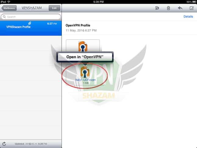 OpenVPN on the iPad/iPhone step4