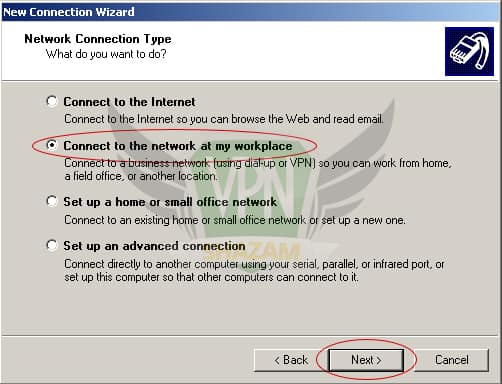WindowsXP VPN Setup step4.1