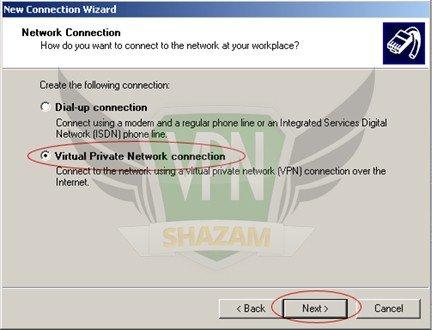 WindowsXP VPN Setup step5
