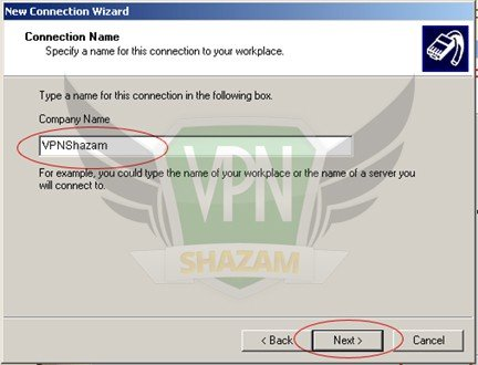 WindowsXP VPN Setup step6