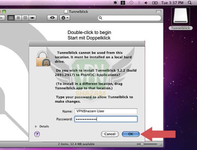 Mac OpenVPN Setup step6