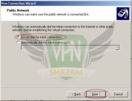 WindowsXP VPN Setup step7