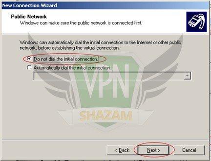 WindowsXP VPN Setup step7