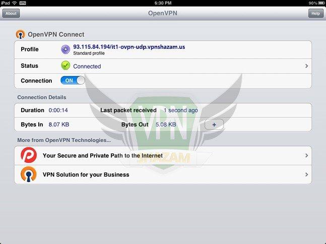OpenVPN on the iPad/iPhone step7