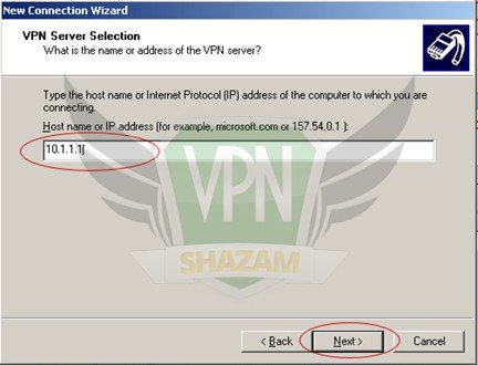 WindowsXP VPN Setup step8