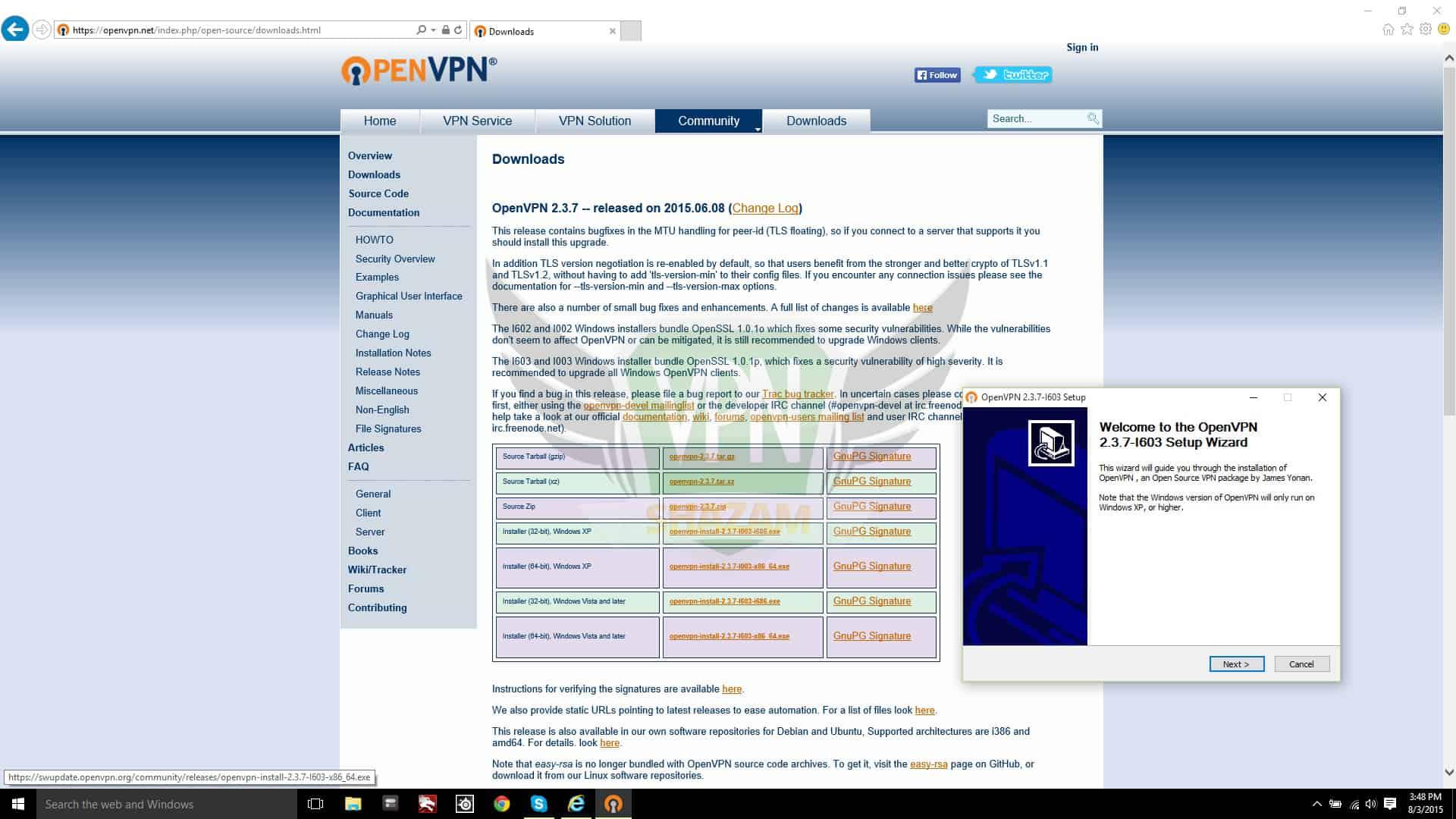 Windows 10 OpenVPN step1