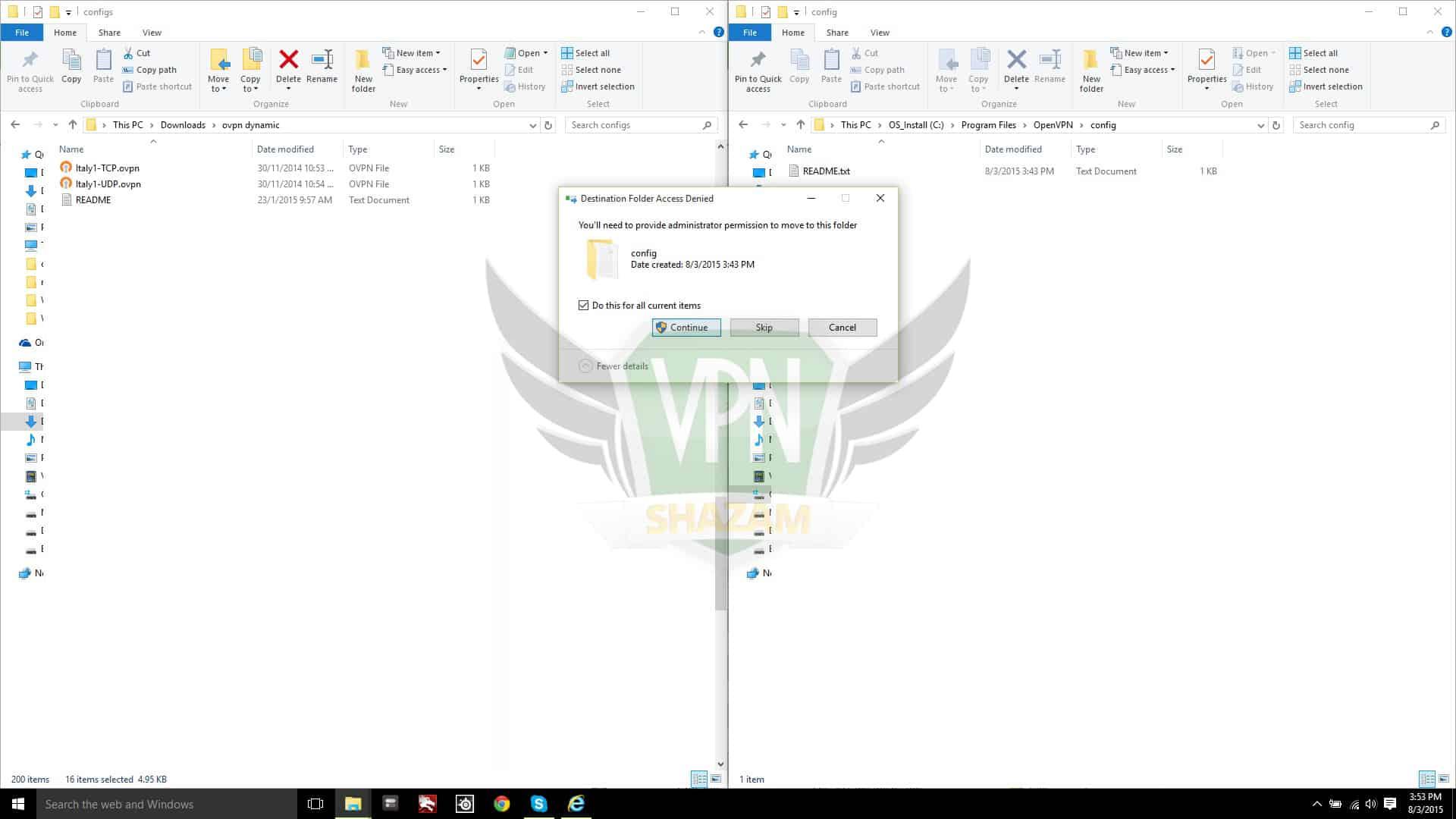 Windows OpenVPN step2