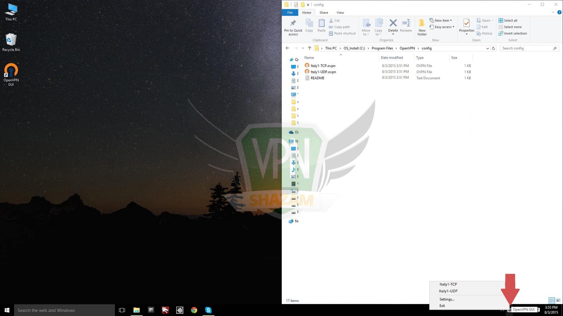 Windows OpenVPN step4