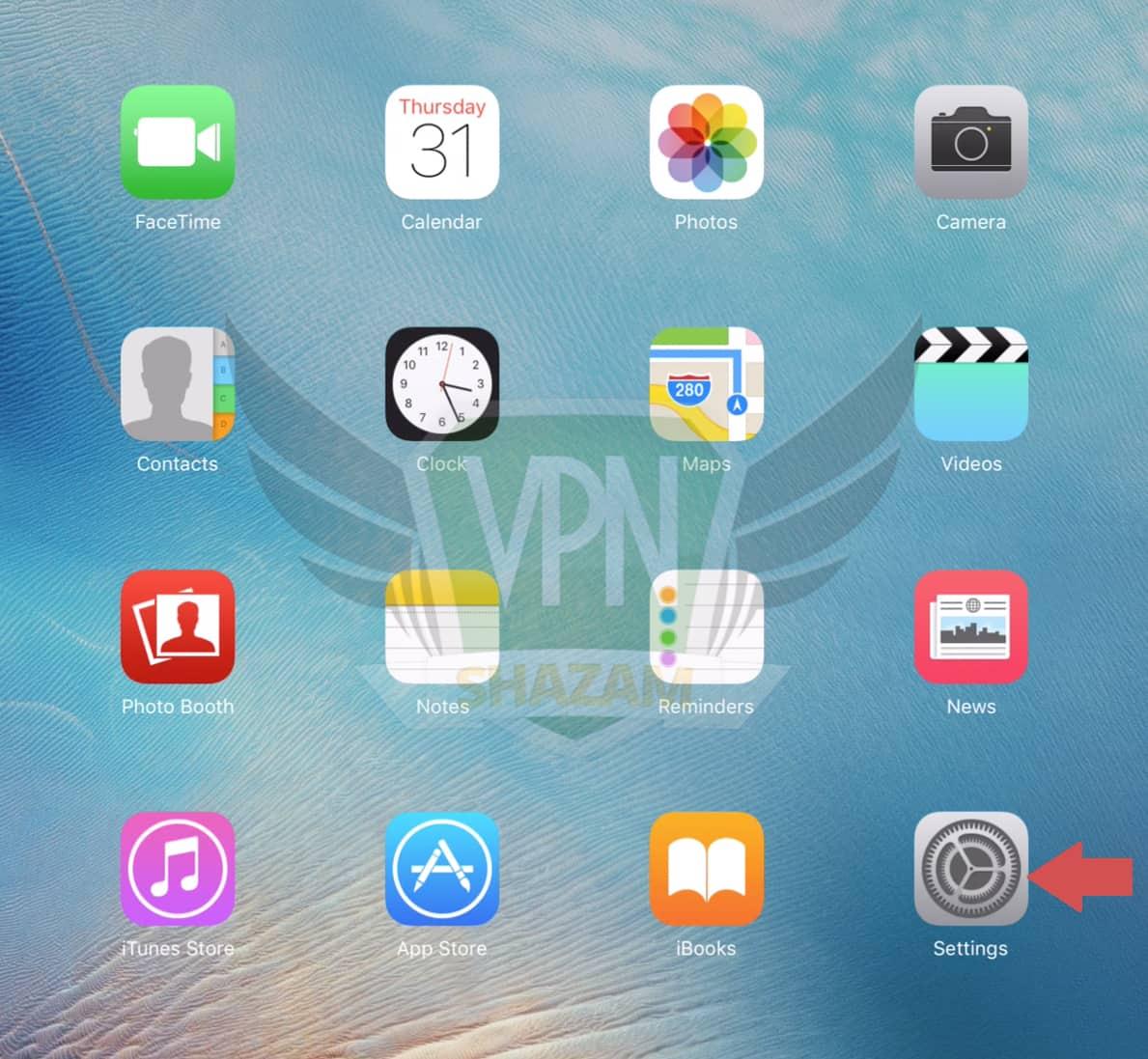 iPad VPN Setup step1