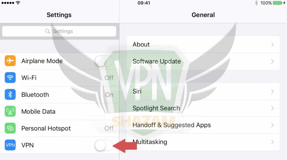iPad VPN Setup step6