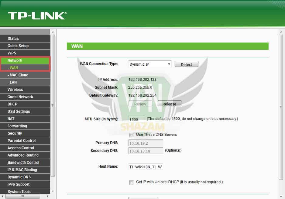 TP-Link Setup step1