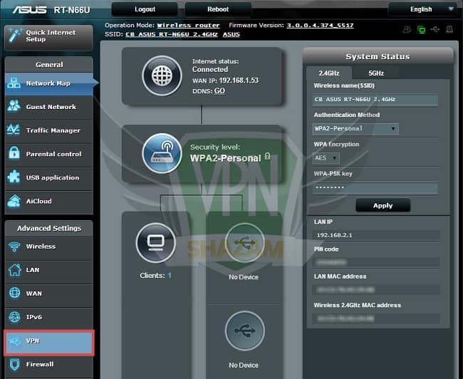 Asus Setup VPN step3
