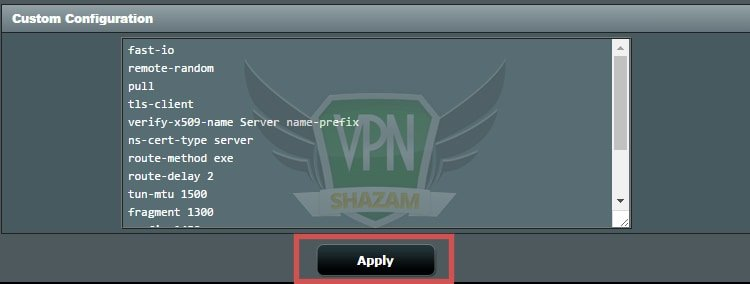 Asus Setup VPN step8